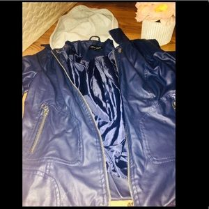 New Look Blue Leather jacket